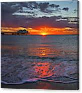 Malibu Pier Sunrise Canvas Print