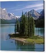 Maligne Lake, Jasper National Park Canvas Print