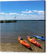 Mallows Bay And Kayaks Canvas Print