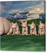 Mamma And Her Little Clones Canvas Print