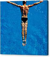 Man Floating In Water, Arms Canvas Print