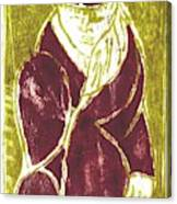 Man In A Crimson Hat Canvas Print