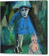Man In A Park With A Baby Canvas Print