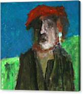 Man In A Red Hat Canvas Print