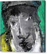 Man In A Scarf Canvas Print