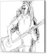 Man On Guitar Canvas Print