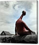 Man On The Wall Canvas Print