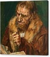 Man Reading 1922 Canvas Print