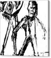 Man Standing With A Bird Canvas Print