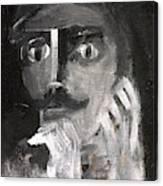 Man With A Handlebar Moustache Canvas Print