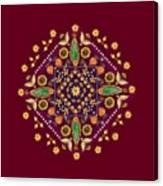 Mandala Flowering Series#2. Terracotta Canvas Print