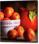 Mandarin Oranges And Orange Shaped Pitcher Canvas Print