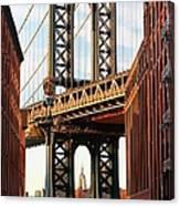 Manhattan Bridge, Brooklyn, New York Canvas Print