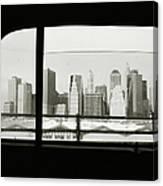 Manhattan Through Car Window Canvas Print