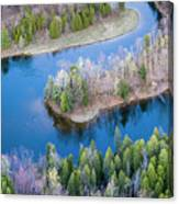 Manistee River Bend From Above Canvas Print