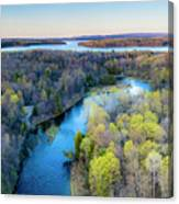 Manistee River Evening Aerial Canvas Print
