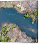 Manistee River From Above Canvas Print