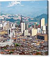Manizales City View, Colombia Canvas Print