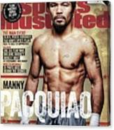 Manny Pacquiao, 2015 Wbawbcwbo Welterweight Title Preview Sports Illustrated Cover Canvas Print