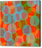 Many Coloured Balls In Pattern On Black Canvas Print