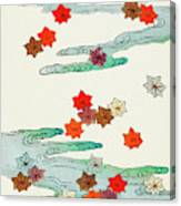 Maple Leaf - Japanese Traditional Pattern Design Canvas Print