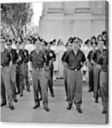 Marchers And Convent Members Canvas Print