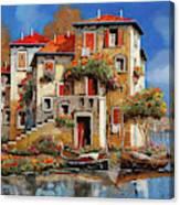 Mareblu-tetti Rossi Canvas Print