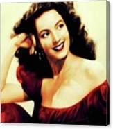 Maria Felix, Vintage Actress Canvas Print