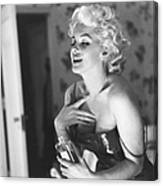 Marilyn Monroe With Chanel No. 5 Canvas Print