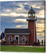 Mark Abbott Memorial Lighthouse And Santa Cruz Surfing Museum Canvas Print