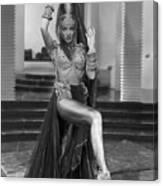 Marlene Dietrich Dressed As Harem Queen Canvas Print