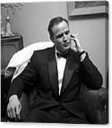 Marlon Brando At A Party Canvas Print