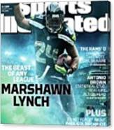 Marshawn Lynch 2015 Nfl Fantasy Football Preview Issue Sports Illustrated Cover Canvas Print