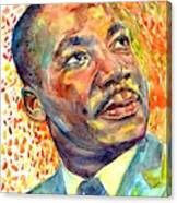 Martin Luther King Jr Portrait Canvas Print