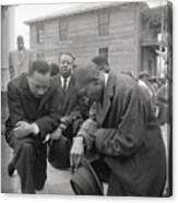 Martin Luther King Jr. Praying Canvas Print