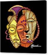 Maruvian Masks 2 Black Canvas Print
