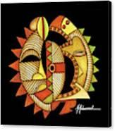 Maruvian Masks 3 Black Canvas Print