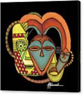 Maruvian Masks 5 Black Canvas Print