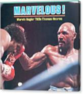 Marvelous Marvin Hagler, 1985 Wbc Wba Ibf Middleweight Title Sports Illustrated Cover Canvas Print