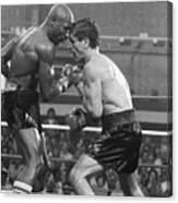 Marvin Hagler Punching Vito Antuofermo Canvas Print