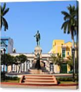 Matanzas, Cuba - Main Square. Palm Canvas Print