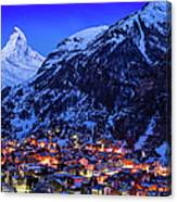 Matterhorn At Night Canvas Print