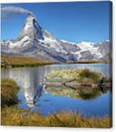 Matterhorn From Lake Stelliesee 07, Switzerland Canvas Print