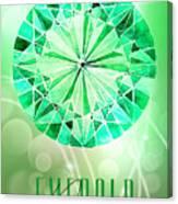 May Birthstone - Emerald Canvas Print