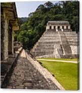 Mayan Ruins In Palenque, Chiapas Canvas Print