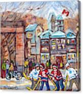 Mcgill University Roddick Gates Original Painting For Sale Hoockey Art C Spandau Canadian City Scene Canvas Print
