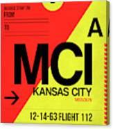 Mci Kansas City Luggage Tag I Canvas Print