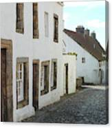 medieval cobbled street in Culross, fife Canvas Print