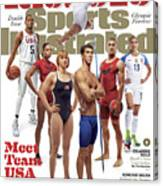 Meet Team Usa 2016 Rio Olympic Games Preview Sports Illustrated Cover Canvas Print