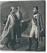 Meeting Of Napoleon And Francis Canvas Print